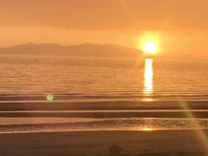 What a sunset over Arran